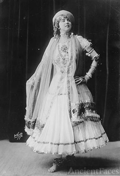 Ruth St. Denis, White Photo