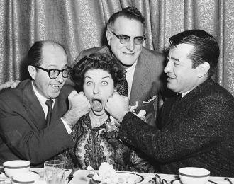 Rocky Graziano and friends