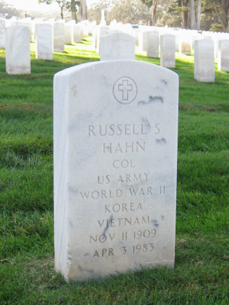 Russell S Hahn Grave