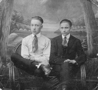 Joseph Heckman and friend
