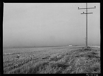Dust storm. Ramsey County, North Dakota