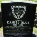 Gravestone of Daniel Blue