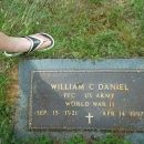 William Clyde Daniel Army Foot Stone