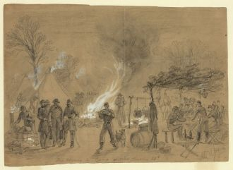 Alfred R Waud Sketch of Thanksgiving 1861