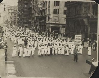 Protest Parade in New York