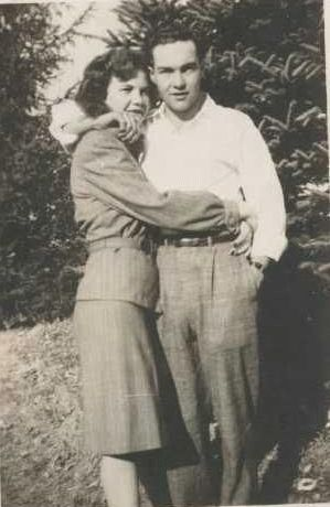 Lee Walker and unknown woman