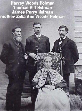 Harvey, Thomas, James, & Zelia Holman, 1890