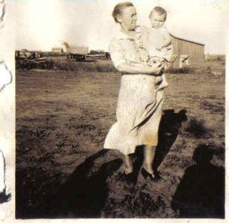 Nettie (Balfour) Hughes and First Grandchild Walter Cunningham
