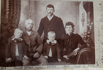 William George Deel and family