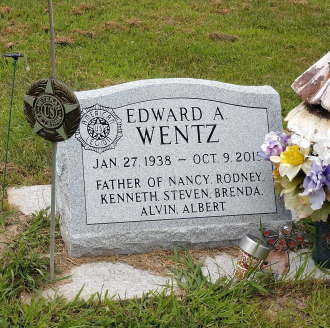 Edward Alvin Wentz--gravestone