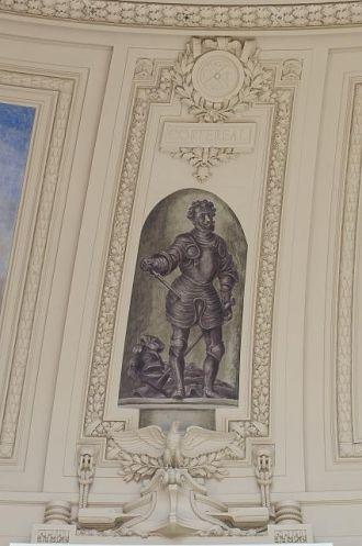 "Fresco painting ""Explorer Cortereal"" located in rotunda,..."