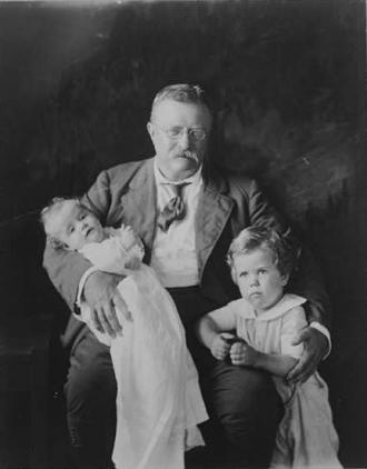 [Theodore Roosevelt, three-quarter length portrait,...