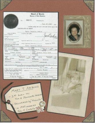 Mary T. (Arbino) Costello - Birth Cert. 1926