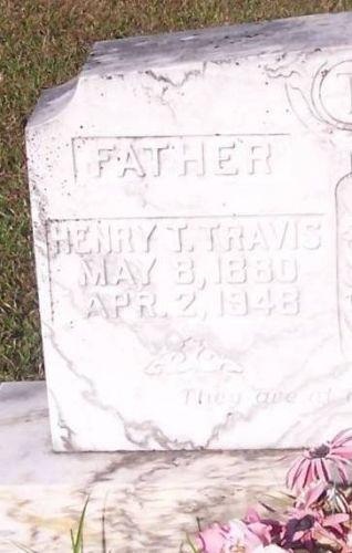 Henry T. Travis's Headstone