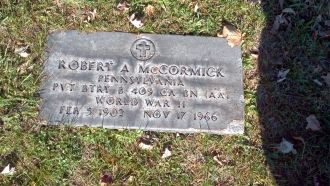 ROBERT A. MCCORMICK Headstone, Pennsylvania