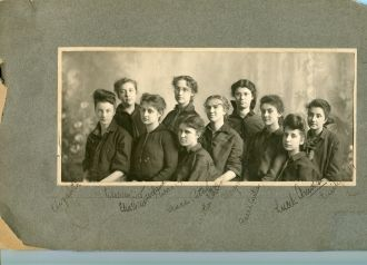 Elizabeth and Emily Ray born 1845 & 1849, Picture taken in Illinois circa 1860-65 - believe this to be a school photo