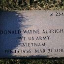 Donald W Albright Grave