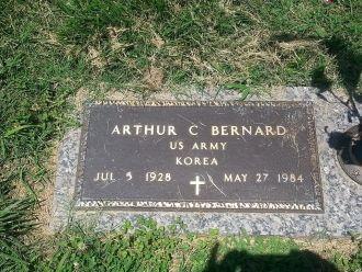 Arthur C Bernard gravesite