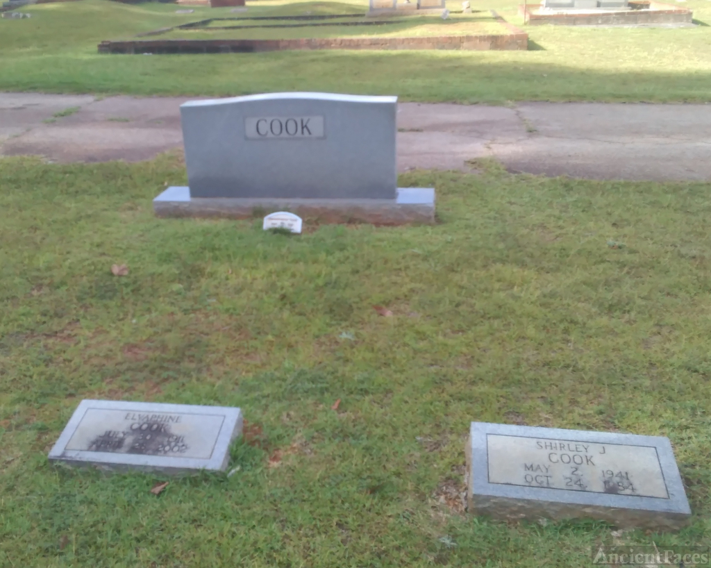 Shirley and Elvaphine (Kirby) Cook gravesite