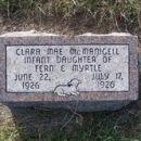 Tombstone of Clara Mae McManigell