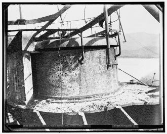 Wreck of the Vizcaya, Battle of Santiago, conning tower,...