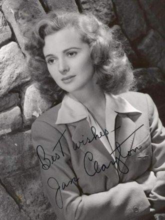 Jan Clayton autographed photo