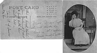 Perl Walsh, Ireland postcard