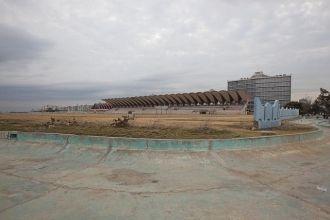 Soccer field on the Malecón in Havana, Cuba