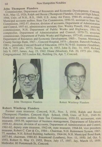 John T. & Robert W. Flanders, New Hampshire 1986