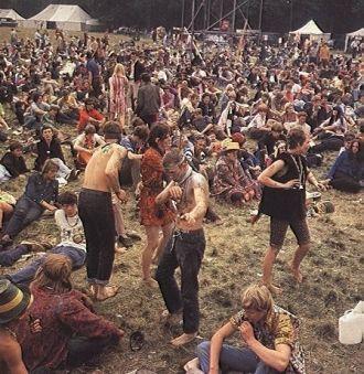 The crowd at Woodstook