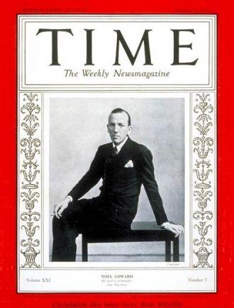 Sir Noel Coward, Time