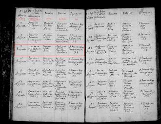 Susanna Liska, 1739 Slovakia birth record