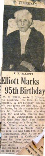 Thomas R. Elliott's 95th Brithday