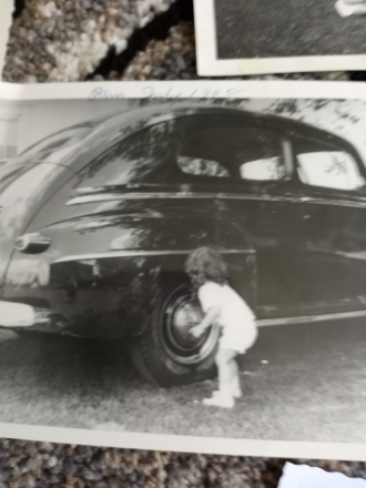 Mom washing the car