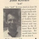 John Jeff Kricker obituary