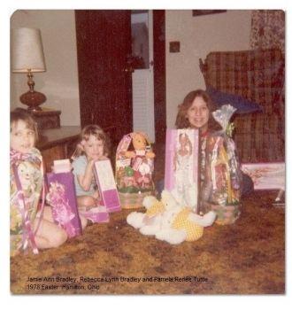 Jamie, Becky and Pam Bradley, 1978