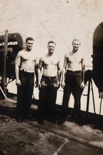 World War II Shipmates: Confer, Lando, Dojka