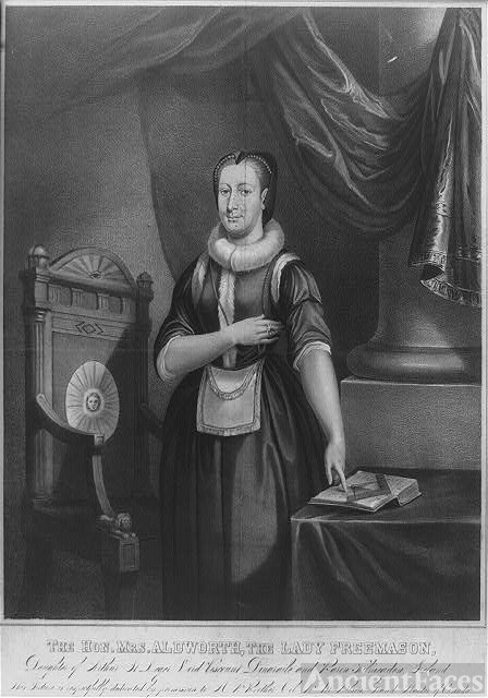 The Hon. Mrs. Aldworth, the lady freemason