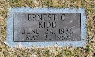 Grave of Ernest Clarence Kidd