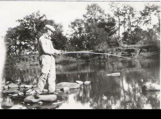 Walter VanBrunt fishing