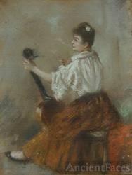 Victorine Meurent, Norbert Goeneutte painting.