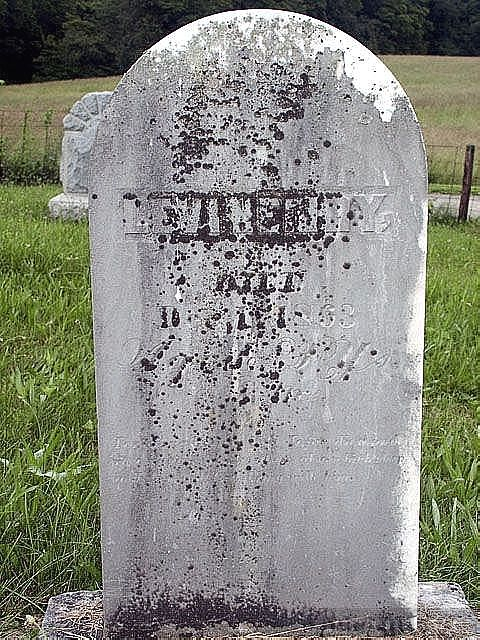 Levi Henry, ggggrandfather tombstone