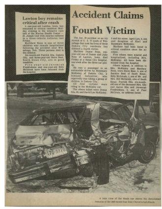 Donna Sue Crull Crash Article