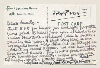 Greer Garson Postcard