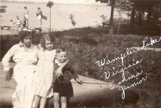 Virginia, Emma, & 'Junior' (William) Busch, MI