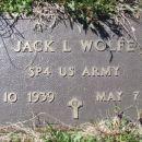 Jack L Wolfe gravesite