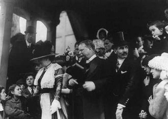 President Roosevelt at Daughter's Wedding