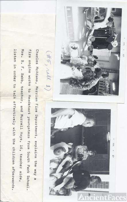 Charles McAdams, Headstart Trip to Fire Station
