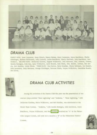 Neal Orvie Shaben--U.S., School Yearbooks, 1900-1999(1959)Drama club