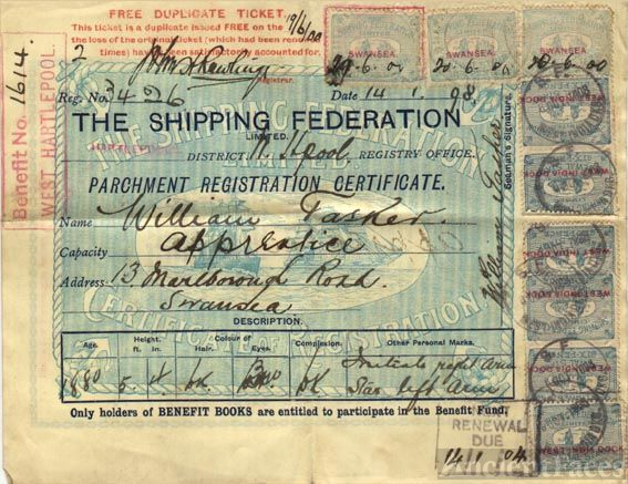William Tasker's Sailing Papers
